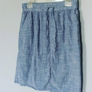 3/$20 NorthStyl Linen Cotton Blue Drawstring Skirt